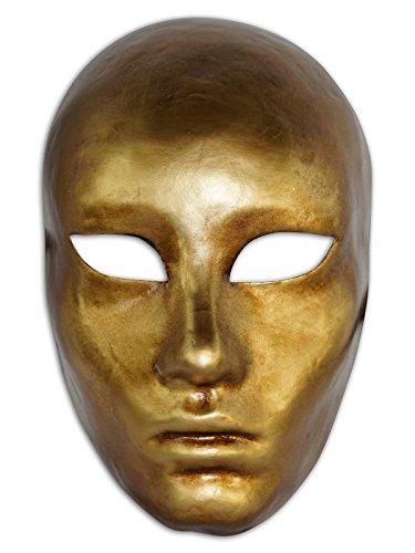 Magic of Venezia Venezianische Vollmaske Volto Metallo für Männer und Frauen (Gold)