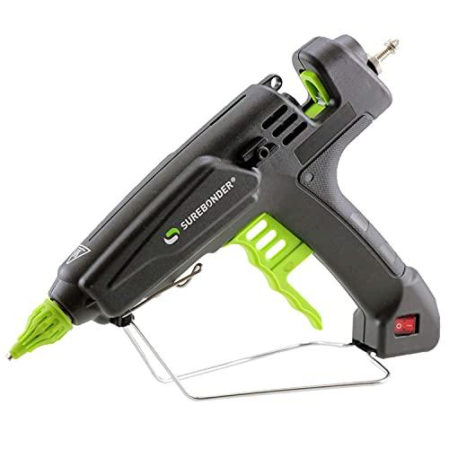 Surebonder Quick Heating Professional Hot Glue Gun - 180 Watts Melts Glue Within 2 Min., Ergonomic Trigger, Works With Full Sized Glue Sticks (PRO8000A)
