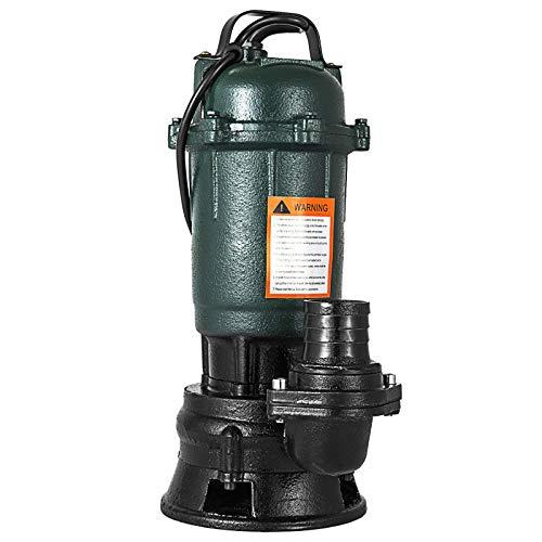 Husuper WQD10-12-0.5 Elektrische Tauchpumpe Schmutzwasserpumpe 500W Garten Hochdruck Tauchpumpe für Brunnenbecken Pool Brunnen Aquarium Abwasser Tauchpumpe 220V