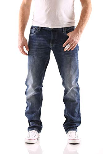 Big Seven Stanley Graduate Blue Regular Herren Jeans, Hosengröße:W46/L32