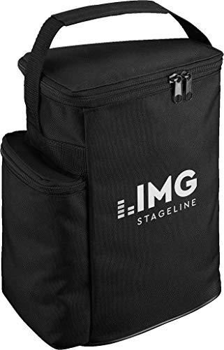 IMG STAGELINE FLAT-M200BAG transport- en beschermtas, beschermhoes speciaal voor de actieve PA-podiummonitorbox FLAT-M200, in zwart