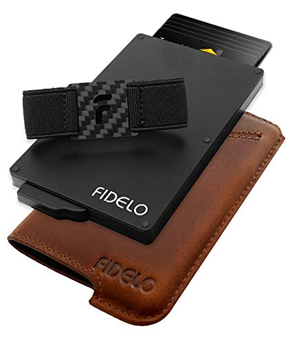 FIDELO Minimalist Wallets Card Wallet -...
