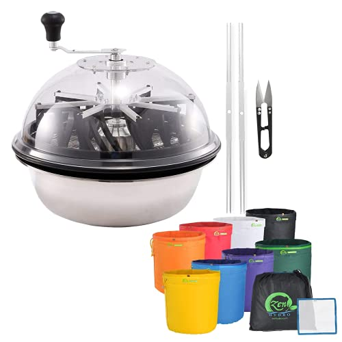 iPower Spin Cut for Plant Bud and Flower 1-Gallon 8 Herbal Ice Bubble Hash Essence Extractor Included, Hand Pruner & Pressing Screen