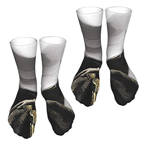 Biggie Smalls The Notorious B.I.G. - Calcetines deportivos para hombre y mujer, diseño con estampado 3D, 2 unidades