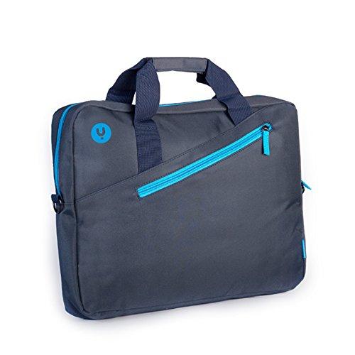 NGS GINGER BLUE - Maletín para Ordenador Portátil de hasta 15,6'', Maleta con Compartimentos y Bolsillo Exterior, Color Azul y Turquesa