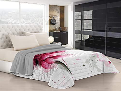Italian Bed Linen Ki-Osa Trapuntino Estivo con Stampa in Digital a Copertura Totale, 100% Microfibra, Kio617 (Multicolore), Matrimoniale, 260 x 270 cm