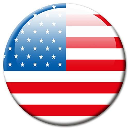 Koelkastmagneet vlag USA magneet landen vlaggen reizen souvenir Amerika voor koelkast sterk groot 50 mm