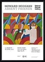 ポスター ハワード ホジキン Absent Friends The Tilsons Exhibition 額装品 ウッドハイグレードフレーム(ブラック)