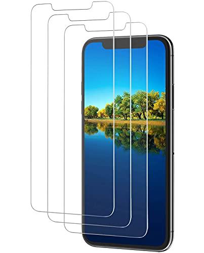 [3 Stück] Panzerglas Schutzfolie kompatible mit iPhone 11 & iPhone XR Folie, 9H Festigkeit, Kratzfest,Blasenfrei, Panzerglasfolie, HD Bildschirmschutz Glas für iPhone XR/11