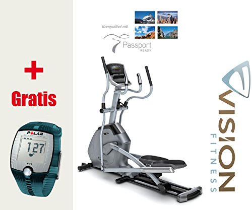 Vision Fitness X20 Elegant Elliptical Crosstrainer, inkl. Polar Brustgurt und FT1 Pulsuhr