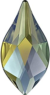 2205 Swarovski Flatback Crystals Non Hotfix Flame | Crystal Iridescent Green | 10mm - Pack of 10 | Small & Wholesale Packs