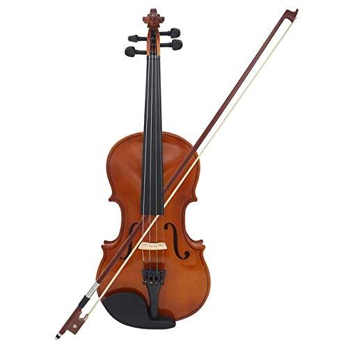 ABMBERTK Violine Geige Geige Geige Geige Geige Geige für Anfänger mit Fall Kolophonium, eins, Viertel 1,4