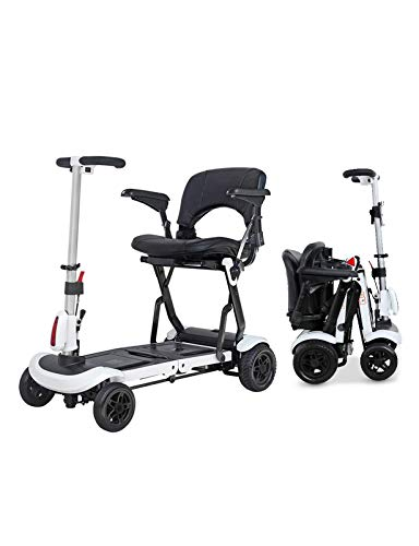 N/Z Life Equipment Foldable Electric Powered Mobility Scooter for Adults and Seniors Lightweight Long Range 4 Wheel Power Scooters Easy Travel Electric Wheelchair