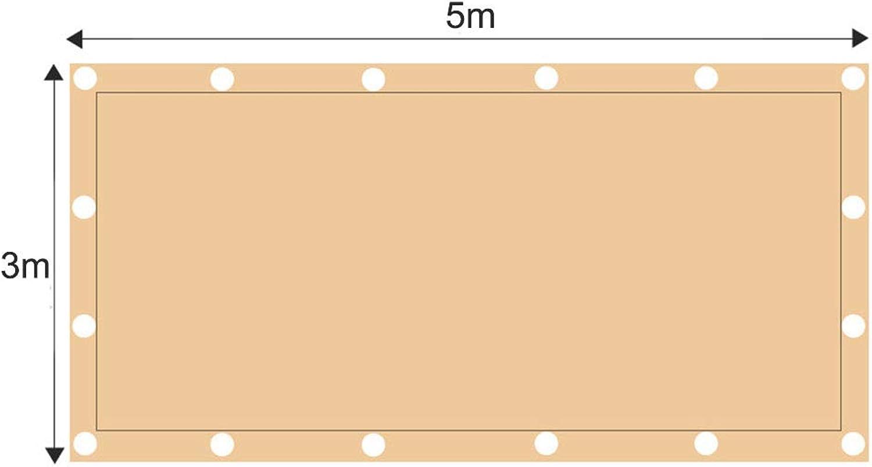 ZJDU Sonnensegel Canopy Rechteck Sand, Sonnensegel UV-Block Für Patio Garden Outdoor-Anlage Und Aktivitten,3x5m