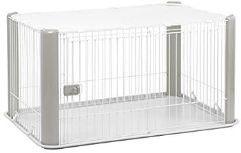 Iris Ohyama, parc pour chien / cage d'extérieur /  enclos / chenil  - Pet Circle - CLS-1130, plastique, gris, 9,2 kg, 78,8 x 113 x 60 cm