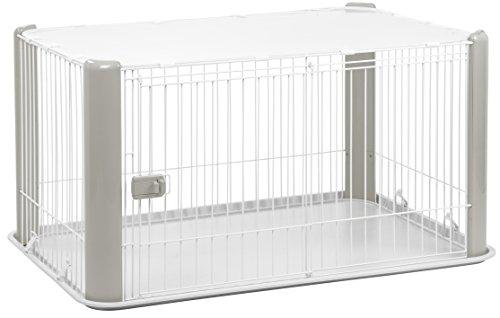 Iris Ohyama 530885 Parc pour chien/cage d'extérieur/enclos/chenil, gris-Pet Circle CLS-1130, (Lot de 1)
