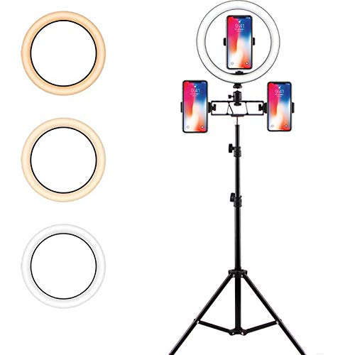 Led-ringlamp met statief, selfie make-up, dimbaar, live licht voor mooie foto's of videoshooot, live streaming portret make-up enz.