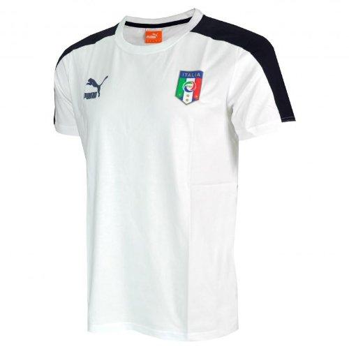 T-Shirt Maglia Puma Italia Badge Tee Nazionale Bianco Calcio Taglia M