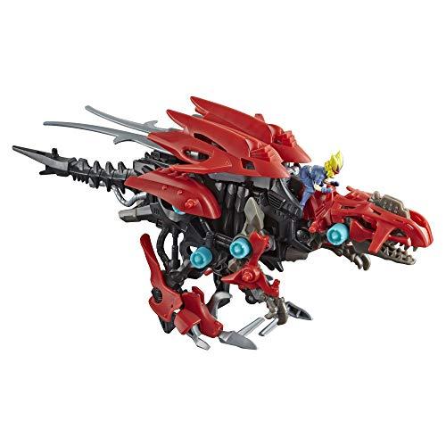 ZOIDS Hasbro Mega Battlers Ruin – Figura de Bestia construible Tipo Raptor Deinonychus con Movimiento motorizado – Juguetes para niños de 8 años en adelante, 45 Piezas (E4956)