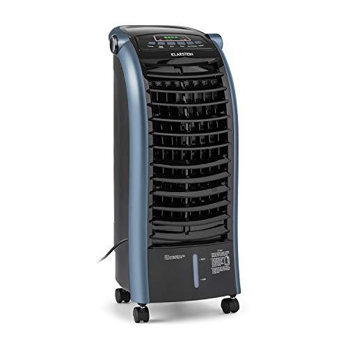 Klarstein Maxfresh - 3-in-1 mobiles Klimagerät: Luftkühler, Ventilator & Luftbefeuchter, 55 Watt, 444 m³/h, 4 Geschwindigkeitsstufen, Oszillation, 51 dB, Timer bis 15 h, Wassertank: 6 Liter, blau
