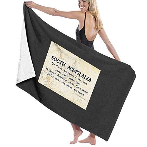 N\ Serviette de bain Shanty Man avec paroles de l'Australie du Sud à l'arrière - Séchage rapide - Serviette de plage
