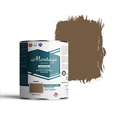 Montage Signature Interior/Exterior Eco-Friendly Paint, Old Walnut, Low Sheen, 1 Gallon