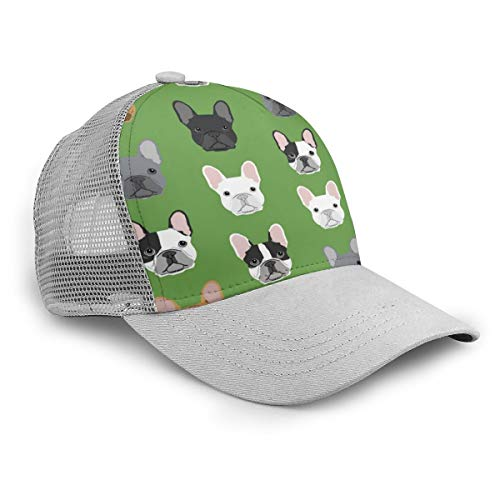YongColer Baseball Caps, Green Frenchie Dog Hats,Military Hats,Polo Hat,Dad-Hats for Father's Day,Thanksgiving Gift