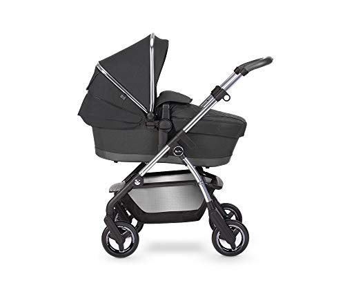 Silver Cross Wayfarer 2020 Travel System, Lightweight Baby Pram for Newborn to Toddler, with Reclinable Reversible Pushchair Seat and Carrycot - Pepper