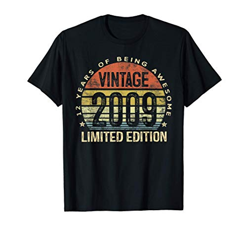 12 Year Old Gifts Vintage 2009 Limited Edition 12th Birthday T-Shirt