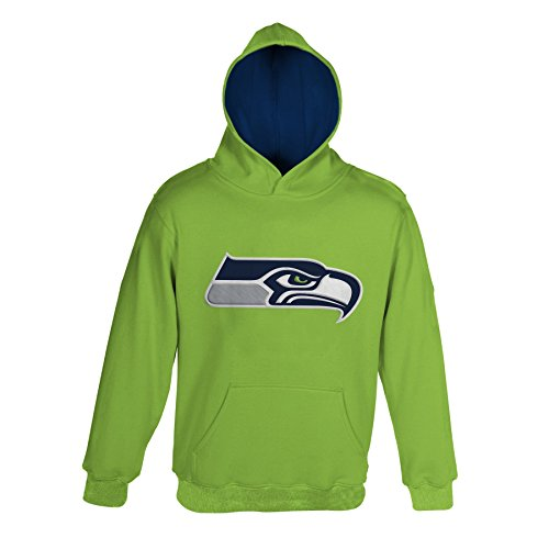NFL Seattle Seahawks Pullover Hoodie, Small, Action Green