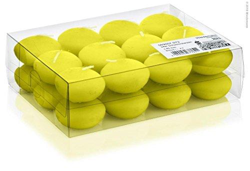 DIGE n08bflo24/61 - 24 bougies flottantes vert anis