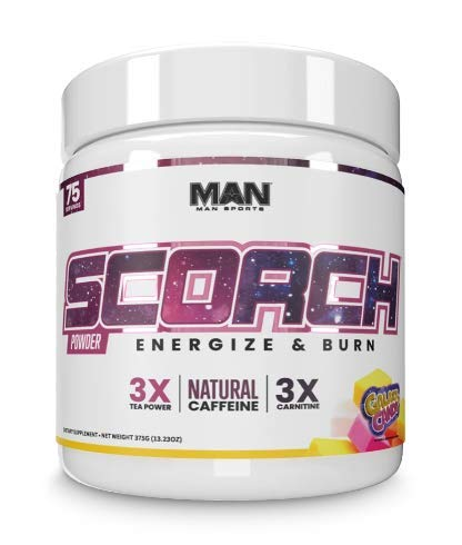 Man Sports Scorch - Fat Burning Powder for Men and Women - Hunger Suppressant - Weight Loss Supplement - 375 Grams, 75 Servings - Galaxy Candy