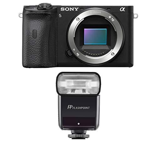 Sony Alpha a6600 Mirrorless Digital Camera Body (ILCE6600/B) Bundle with Flashpoint Zoom-Mini TTL R2 Flash