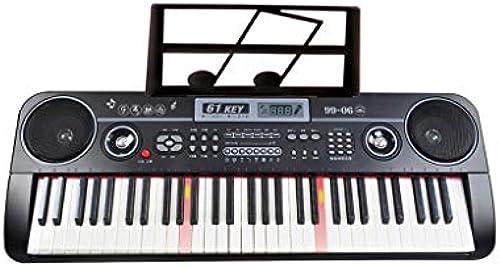LINGLING-Tastatur 61-Tasten-Multifunktions-Tastatur Für Kinder Anf er Klaviertasten Mit Licht (Farbe   Schwarz