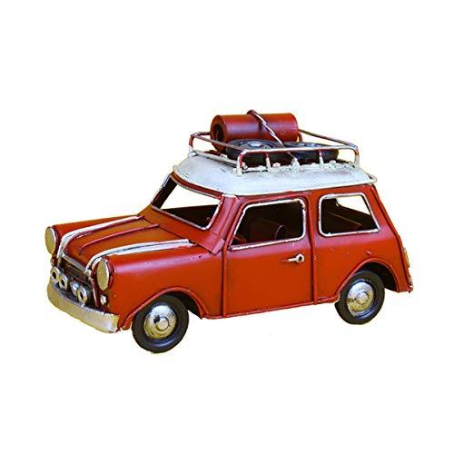 JenLn Modelo de Metal Antiguo Vintage Viajes Mini Retro Hierro Forjado Classic Coche Modelo Decoración Creativa Casa Cabina de Vino TV Mueble Decoración (Color : Red, Size : 16x7.5x9cm)
