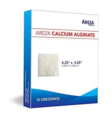 "Calcium Alginate 4.25""x4.25"" Sterile 10 per Box HIGH QUALITY"