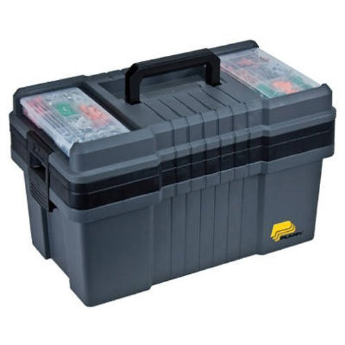 Plano 823-003 Contractor Grade Po Series 22' Tool Box, Graphite Gray with Black Handles & Latches