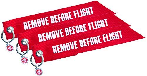 3 Fähnchen-Anhänger - Remove Before Flight