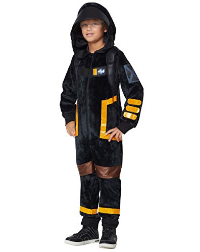 Kids Fortnite Plush Dark Voyager Costume - M/L Black