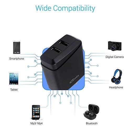 Portronics POR-089 Adapto 89 2.4A Adapter with Dual USB Port (Black)