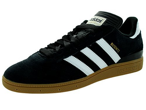 adidas Men's Busenitz Sneakers, Core Black, FTWR White, Gold Met, (8 M US)