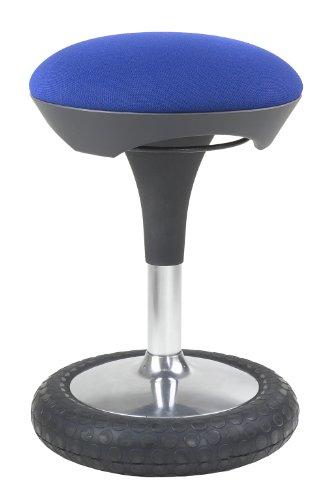 Topstar Sitness 20, ergonomischer Sitzhocker, Arbeitshocker, Bürohocker mit Schwingeffekt, Sitzhöhenverstellung, Bezug blau