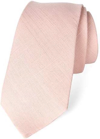 Spring Notion Men s Linen Blend Skinny Necktie Blush Pink product image