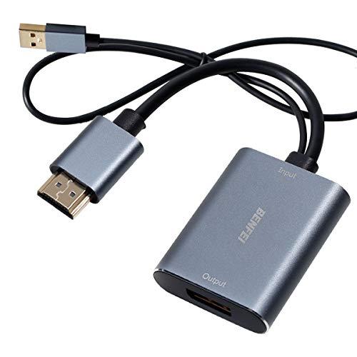 HDMI auf DisplayPort, BENFEI HDMI auf DisplayPort Adapter Auflösung Bis zu 4K@60 Hz Kompatibel mit Laptop, Xbox 360 One, PS4 PS3 HDMI-Gerät(HDMI-Eingang auf DisplayPort-Ausgang)