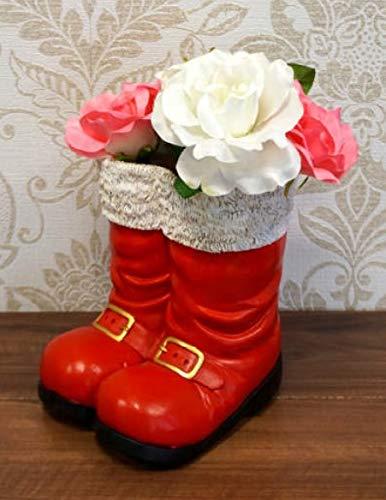 Pflanztopf Nikolaus Stiefel Pflanzgefäß für Blumen Blüh- und Grünpflanzen Haus Garten Terrasse Weihnachten