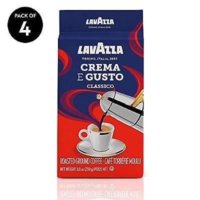 Lavazza Crema e Gusto Ground Coffee Blend, Espresso Dark Roast, 8.8-Ounce Bags (Pack of 4). by Lavazza