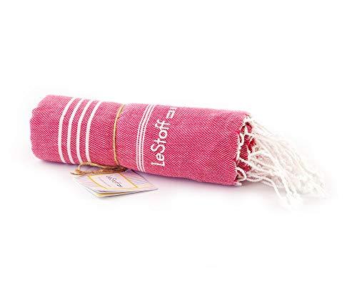 LeStoff Telo Mare Fouta Telo da Bagno XXL 100% Cotone di Alta qualità Asciugamano Turco...