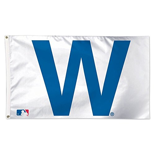 WinCraft MLB Chicago Cubs W Deluxe Flag, 3 x 5', Multicolor