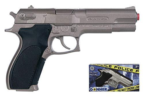 Gonher-Pistola Policía con 8 disparos, multicolor, sin talla (45)