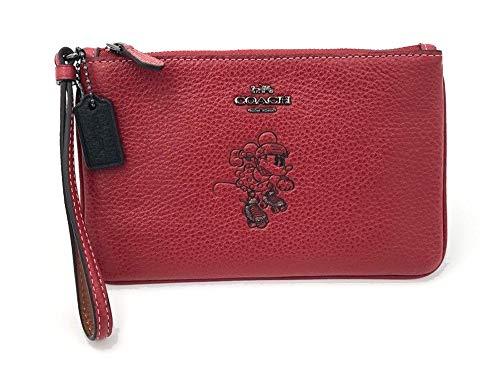 COACH Women's Box Program Minnie Mouse Motif Small Wristlet ¿Disney x COACH Dk/1941 Red One Size